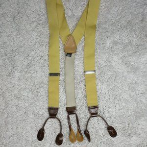 Brooks Brothers yellow traditional suspenders